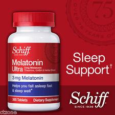 365 Schiff Melatonin Ultra Sleep Aid Relaxation Theanine GABA 3mg 365 Tablets