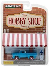 2018 GreenLight The Hobby Shop 1954 FORD F-100 PICK-UP with gas pump - mint card