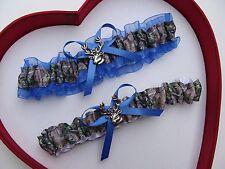 * NEW Mossy Oak Camouflage Camo Royal Blue Wedding Garter Hunter Chick Deer