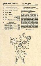 Official Hulk Hogan US Patent Art Print- Vintage WWF Hasbro Toy Original WWE 296