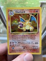 Pokemon Base Set Non-Shadowless Holo Rare Charizard 4/102