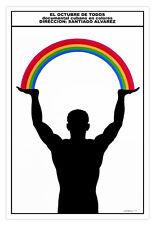 "Cuban movie Poster for""October of all""Rainbow.Art film.Home room interior design"