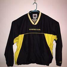 Mens XXL Iowa Hawkeyes Black Yellow Pullover Jacket 58 Sports Windbreaker