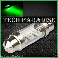 2x Ampoule 39mm C5W C7W C10W LED Bulb 3 SMD Vert Green plaque Navette Festoon