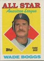 Wade Boggs All Star AL 1988 Topps Baseball Card #388 Boston Red Sox
