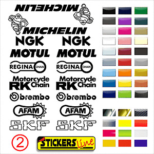 ADESIVI KIT SPONSOR TECNICI MOTO adesivo carena moto motorcycle stickers mod. 2