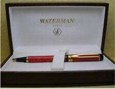 WATERMAN PATRICIAN  MAN 100  CARDINAL RED BALLPOINT PEN NEW IN WOODEN  BOX