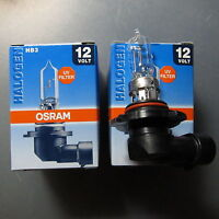 2X OSRAM Sylvania 60W 12V HB3 P20d halogen lamp 9005 Made in USA Automotive