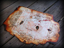 The Goonies Prop Replica Treasure Map for Pirates to Find Chests Full of Gold