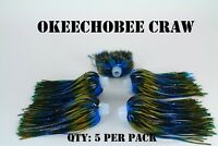 PRO-TIE SKIRTS Bass,spinnerbait, Chatterbait fishing lure skirt. Qty: 5 per pack