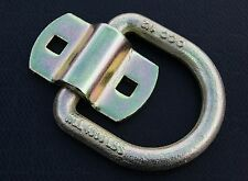 """2 Bolt On D Ring 1/2"""" Flatbed Truck Trailer Tie Down Strap Chain Rope Tow Rings"""
