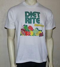 DIET RITE soda fruit flavors vintage promo t-shirt  L