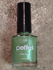 PETITES NAIL POLISH 126 LIME FREEZE SHIMMER SPRING GREEN LACQUER DISCONTINUED