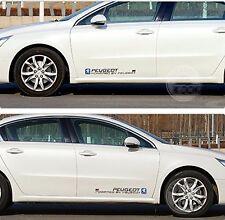 2* Car Styling Auto Door Waist Line Car Body Decal Vinyl Car Sticker for PEUGEOT