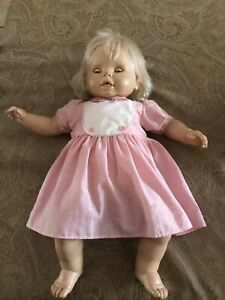 "24"" Vinyl Baby Doll Marked Vicma With 3 Dresses"