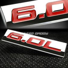METAL EMBLEM CAR BUMPER TRUNK FENDER DECAL LOGO BADGE CHROME RED 6.0L 6.0 L