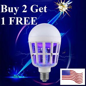 E26/27 Light Zapper LED Lightbulb Bug Mosquito Fly Insect Killer Bulb Lamp Home