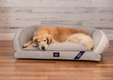 New listing SertaPedic Memory Foam Couch Extra Large Pet Bed Grey 44 Inches Eco Poly New
