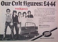 BLUE OYSTER CULT Mirrors (Boots) 1979 UK Press ADVERT 12x8 inches