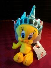 """WARNER BROS Tweety Bird Statue of Liberty Bean Bag Plush 8""""L 1998 NOS"""