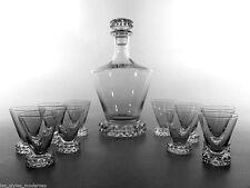 Saint LOUIS France Glas ° Kristallglas Karaffe + 10 Gläser ° Modell New Diamant