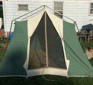 1970's Sears 8x10 Canvas Family Cabin Camping Tent - Great Shape, Waterproofed