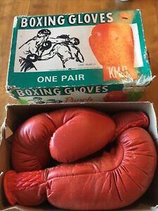 Vintage KMART 1970s KM-8 Boxing Gloves in Original Box RARE!!