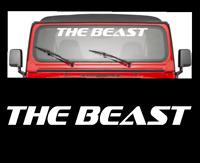 The Beast Windshield Decal Sticker Vinyl Turbo Truck Lift Mud Car Diesel Truck