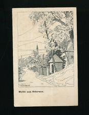 Künstler-AK Schmoller, Motiv aus Attersee ,Oberösterreich (K18)