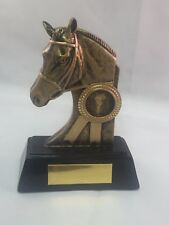 130mm Horse Head with Rosette, Equestrian, Free Engraving (H022) cl