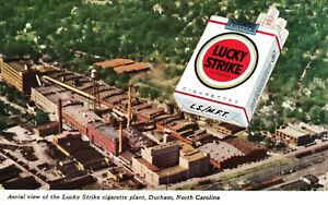 Durham, North Carolina, Lucky Strike, Cigarette Plant - Postcard (C11)