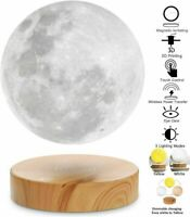 Levitating Moon Lamp,Floating and Spinning in Air Freely with 3D Printing LED Mo