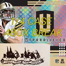 DENVER BRONCOS 2018 UNPARALLELED FOOTBALL 1/4 CASE 4 BOX LIVE BREAK #11