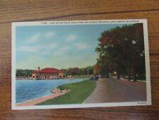 Postcard, Lake Geneva, Wi - Lake Shore Drive near park & picnic area grounds
