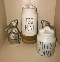 NEW! 2 Rae Dunn Easter JELLY BEANS and Egg Hunt Canister Set & LidsLL  Magenta