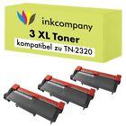 3 TONER für BROTHER TN2320 DCP L2500D L2520 DW L2540 DN L2560 DW L2300 L2340 XXL