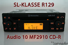 ORIGINALE Mercedes Audio 10 CD mf2910 CD-R Autoradio SL-classe r129 w129 Radio