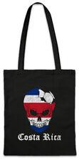 Costa Rica Football Skull I Shopper Shopping Bag Rican Soccer Flag World