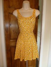 Lovely yellow+white skater dress from H&M size 12