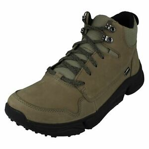 Mens Clarks Leather Walking Boots Tri Path Hike