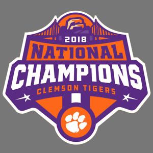 Clemson Tigers 2018 Champions Vinyl Sticker Car Truck Window Decal Laptop