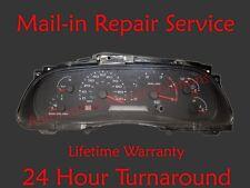 02-04 Ford Superduty Instrument Cluster Speedometer Odometer Repair Service 2003