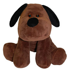 Teddy & Friends Smooch Velboa Dog [25cm] Soft Plush Toy - Chocolate NEW