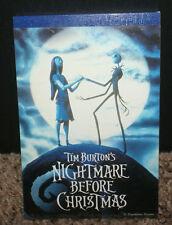 Disney Nightmare Before Christmas Illustrated Mini Note Pad 1993 HTF OOP Japan