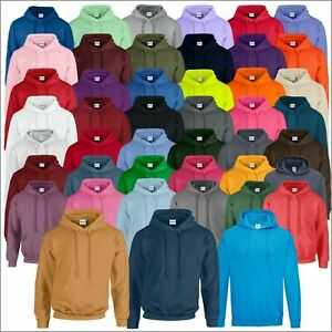 GILDAN Heavy Blend Hooded Sweatshirt Mens Classic Plain Pullover Hoodie S - 5XL