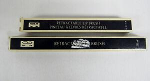 Vintage Avon Retractable Lip Brush - Spring Loaded Set Of 2 NOS