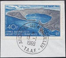 TAAF PA N°17* L´Ile Saint Paul oblitéré sur frag. 1969 TTB, FSAT VF used