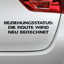 Auto Aufkleber Beziehungsstaus fun Single Spruch sticker