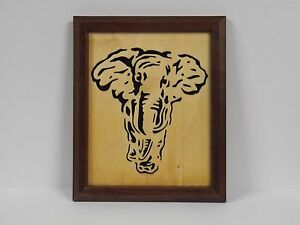 Handcrafted Framed African Elephant Silhouette
