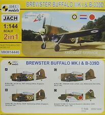 Brewster Mk.I & B-339 D , Fernost,NL,RAF,RAAF , 1:144, Mark I., Doppepack, NEU!
